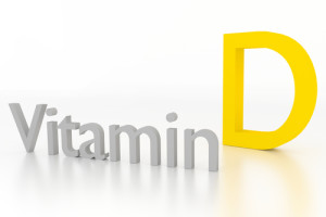 vitamin d 3d illustration on white surface