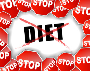Vector illustration of stop diet concept background